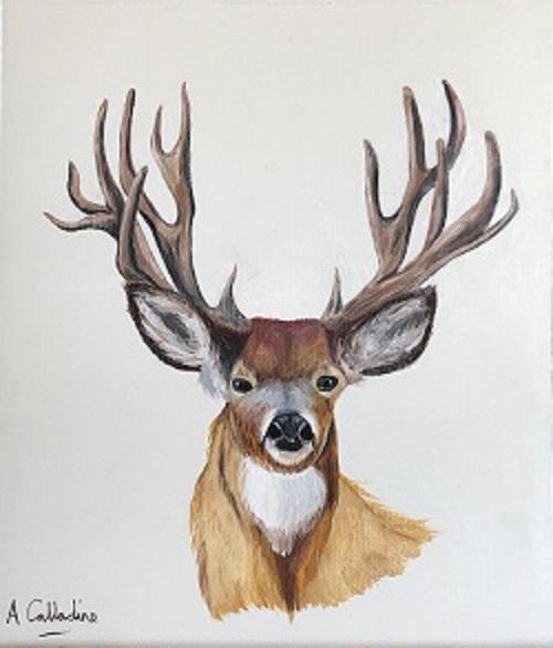 Christmas 8. Reindeer. Original art by Andy Calladine