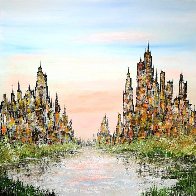Cityscape 33. Original art by Paul Chambers