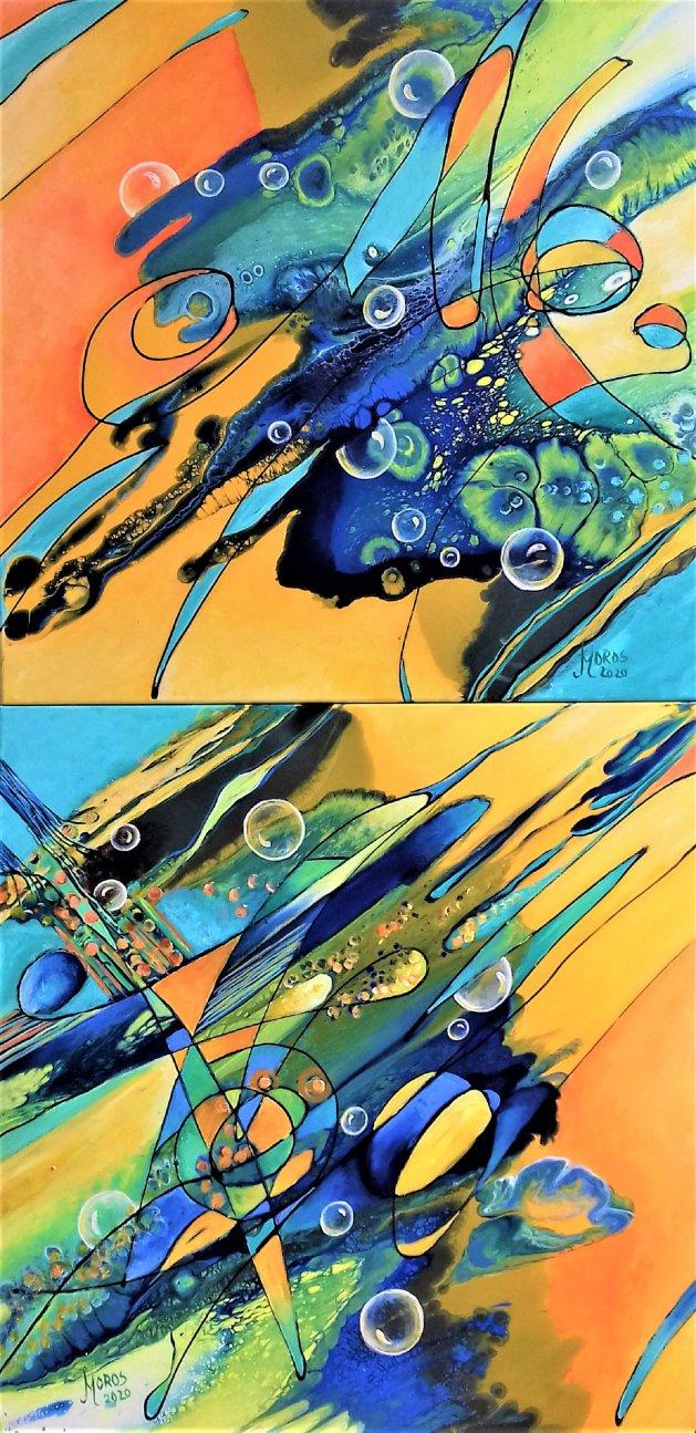 Fluturele si Coconul. Original art by Mariana Oros
