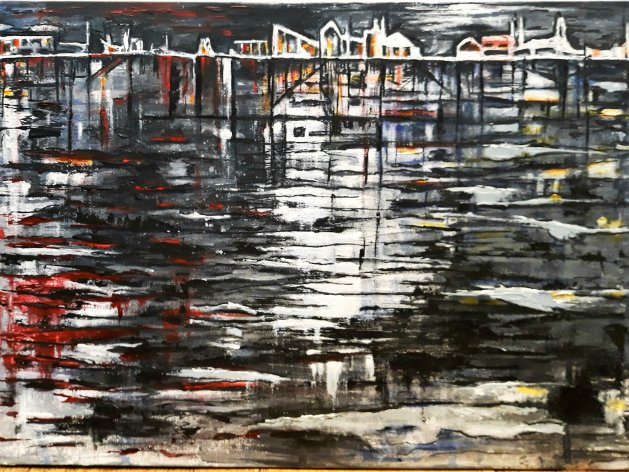 Night City. Original art by Della Hawkins