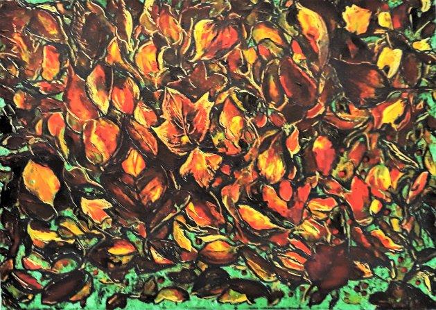 Autumn. Original art by Della Hawkins
