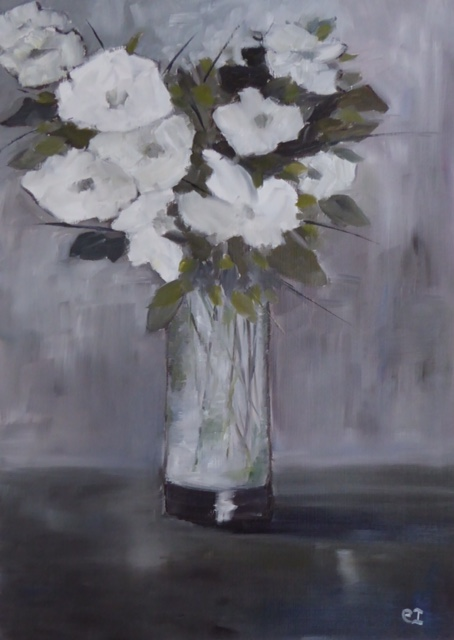 Ice White. Original art by Christine Ingram