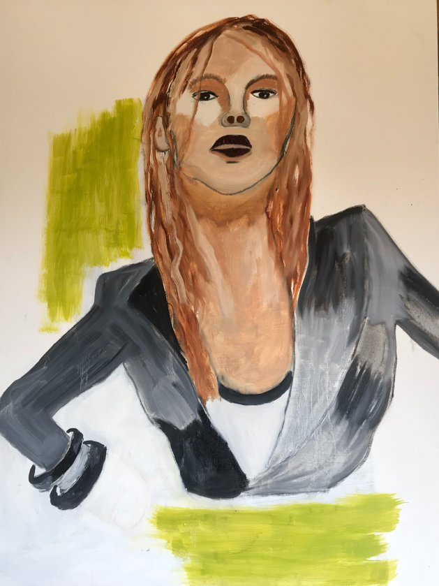 Woman with attitude. Original art by Alison Baxter