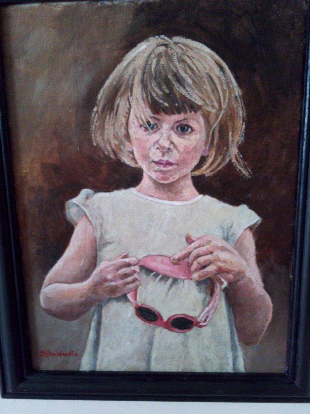 Pensive Girl. Original art by John Wardle