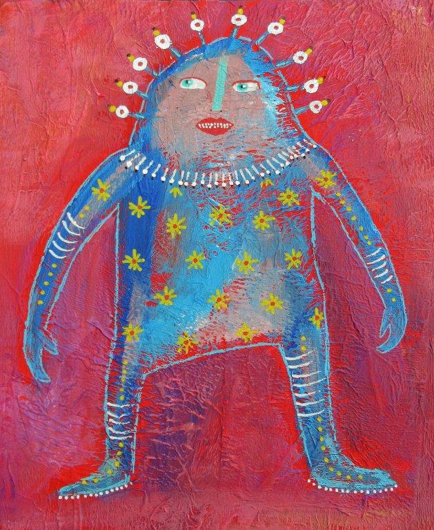 Blue Guy. Original art by Beatrice Margaret