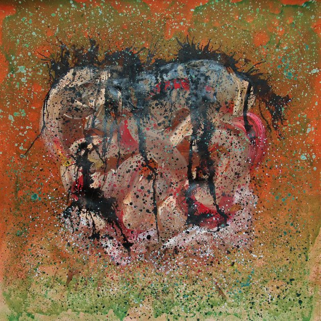 Bomb Series - Spice Green Rust. Original art by Beatrice Margaret