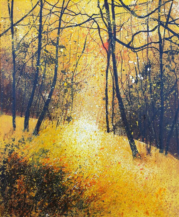 Golden Autumn. Original art by Teresa Tanner