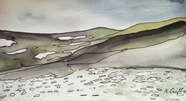 Lochnagar. Original art by Nikki Griffith