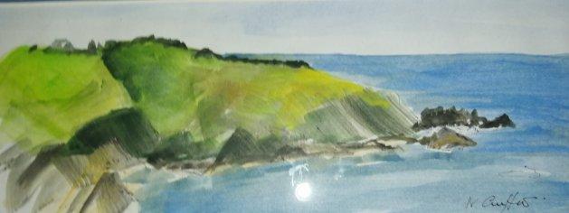 Sark Cliffs. Original art by Nikki Griffith