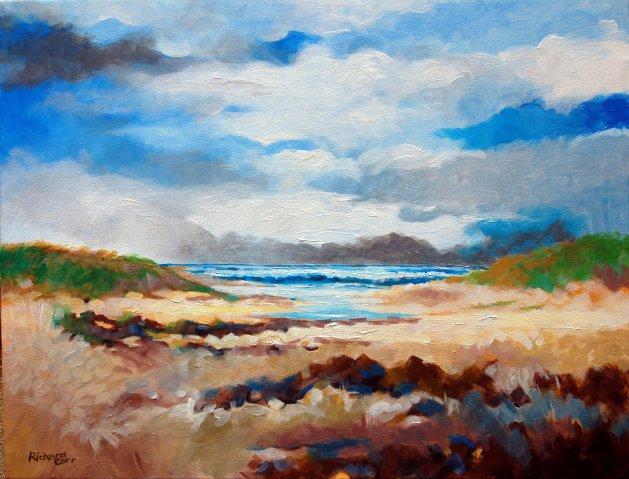 Beach View. Original art by Richard Carr