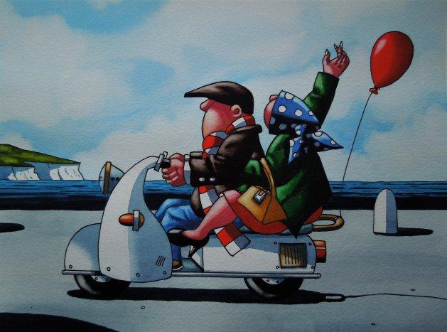 Born to Ride. Original art by Paul Kiernan