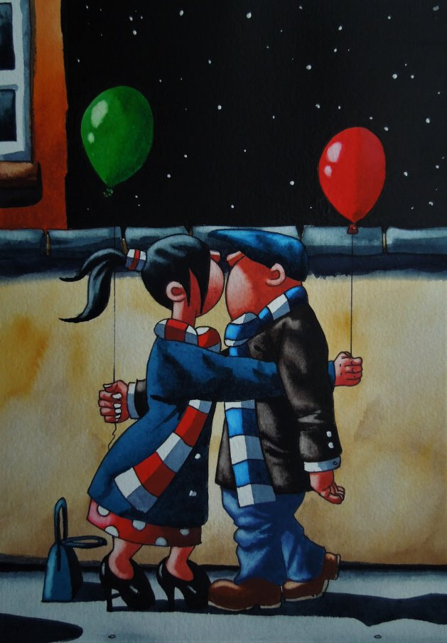 After the Party. Original art by Paul Kiernan