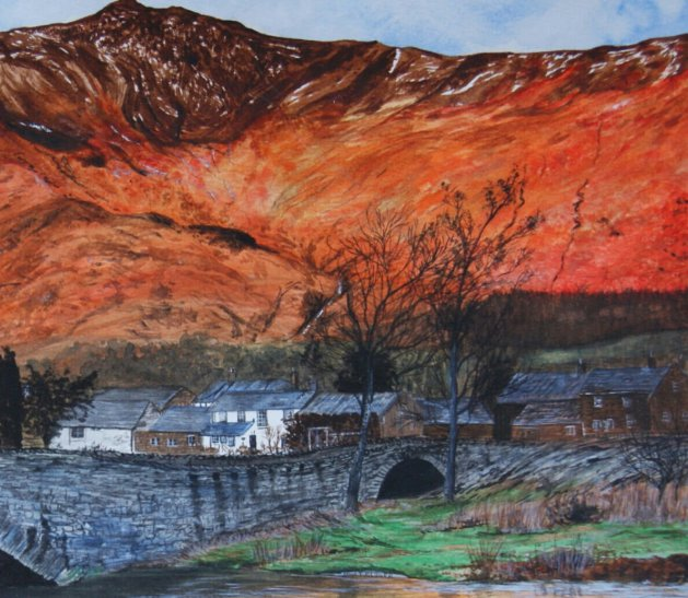 Autumn in the Lake District. Original art by Janet Blower
