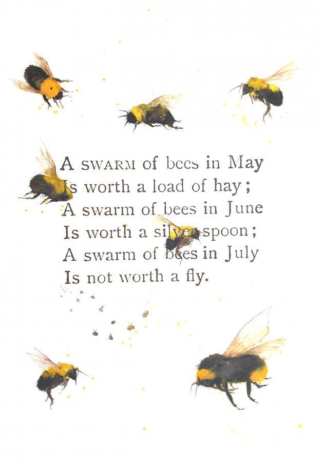 A Swarm of Bees in May. Original art by Teresa Tanner