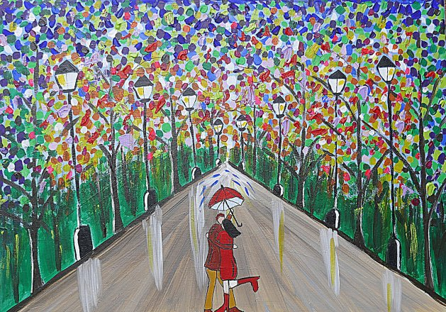 Love in a Colourful Forest. Original art by Casimira Mostyn