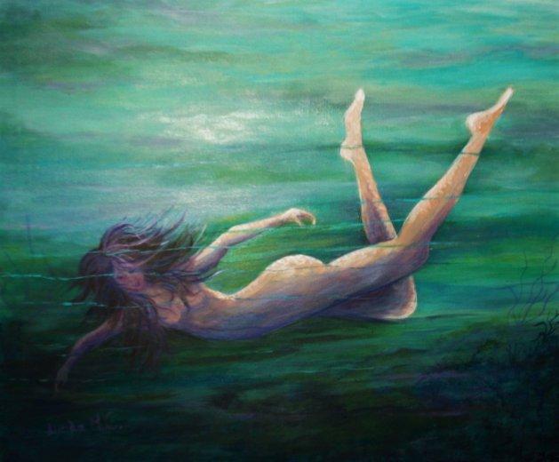 SEA NYMPH. Original art by Lynda Cockshott