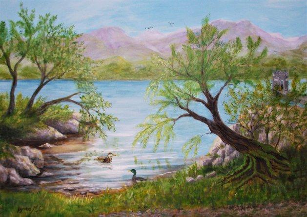 LAKELAND VIEW. Original art by Lynda Cockshott
