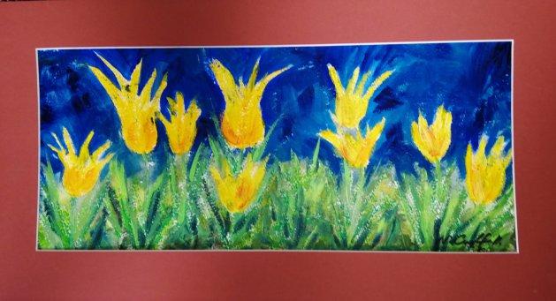 Tulips. Original art by Nikki Griffith