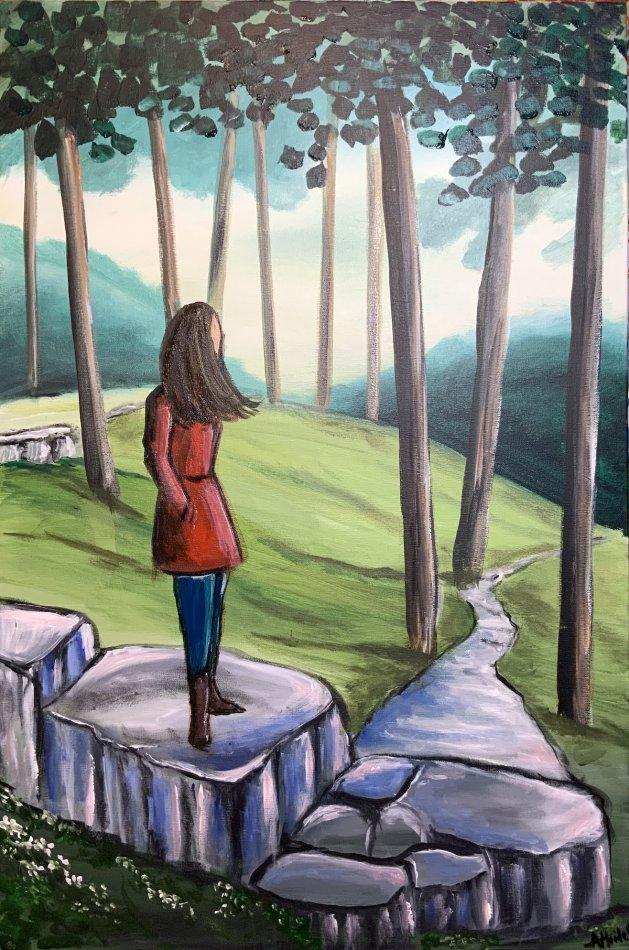 Belonging 2. Original art by Aisha Haider