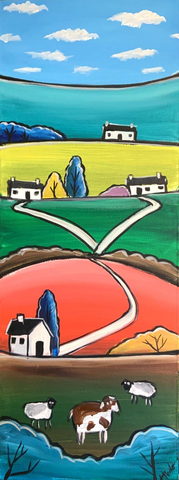 Joyful Hills. Original art by Aisha Haider
