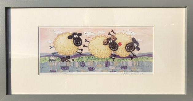 Woolly Jumpers III. Original art by Jane Brookshaw