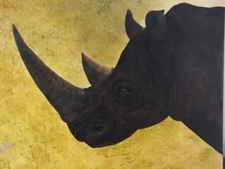 132 rhino. Original art by Irene Gelling