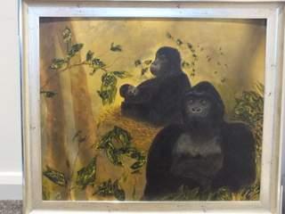 131 gorillas in the mist. Original art by Irene Gelling