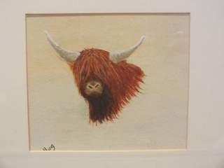 1035 highland bull. Original art by Irene Gelling
