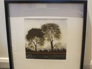 1044 misty morning. Original art by Irene Gelling