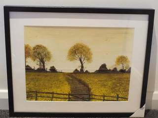 1042 Pathway through rapeseed. Original art by Irene Gelling