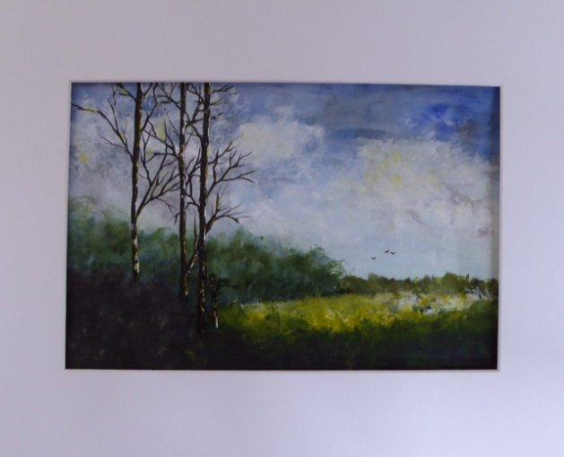 The 3 Trees. Original art by Christine Ingram