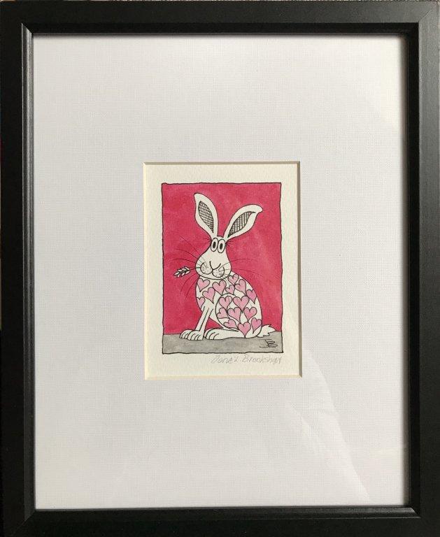 Heart Lee Hare. Original art by Jane Brookshaw