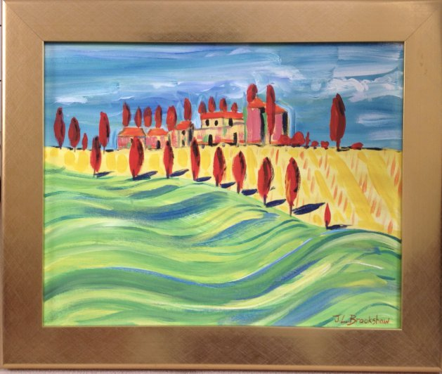 Tuscany. Original art by Jane Brookshaw