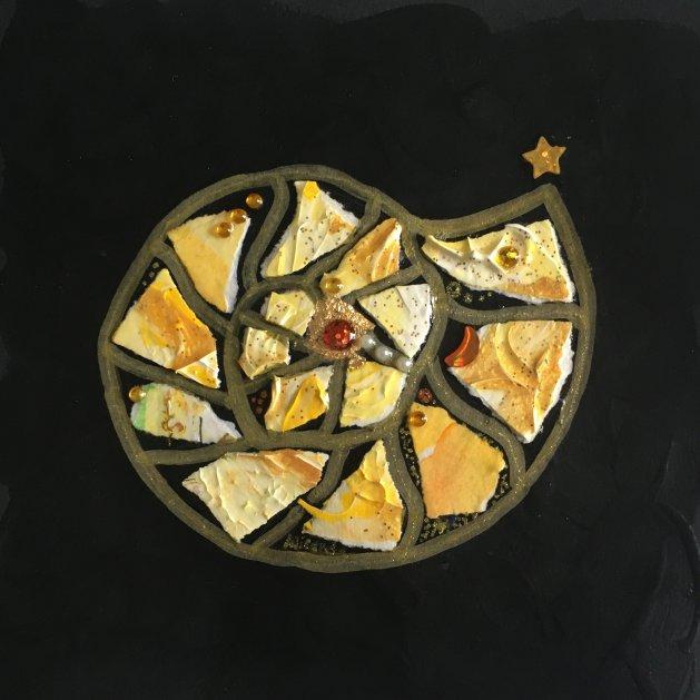 Ammonite: Buttercream & Caramel. Original art by Miranda Pender