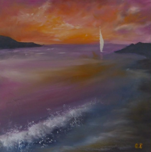 End of Another Day. Original art by Christine Ingram