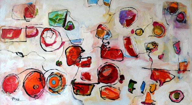 Colorful Bulgarians,abstract Bissinger. Original art by Elena Bissinger