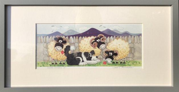 Woolly Jumpers IV. Original art by Jane Brookshaw