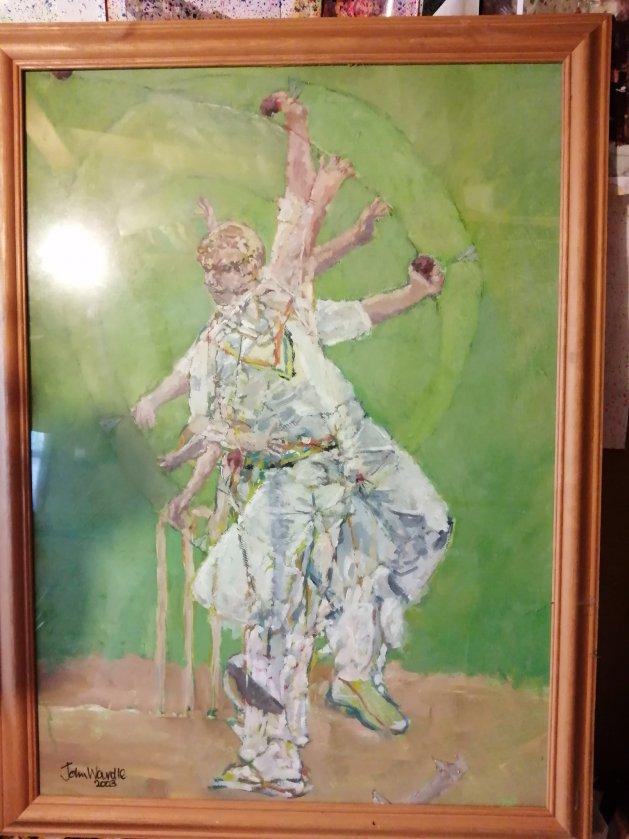 The Bowler. Original art by John Wardle