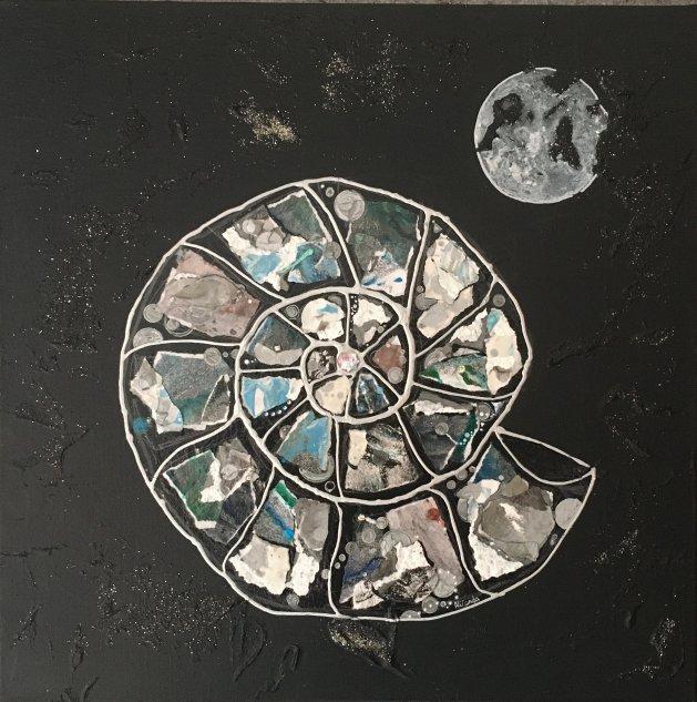 Ammonite: Moonlight. Original art by Miranda Pender
