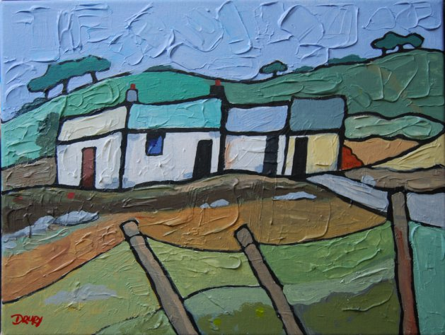 Mountain Cottage. Original art by Randle Drury