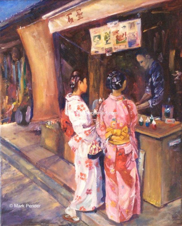 The Ice Cream Seller. Original art by Mark Pender