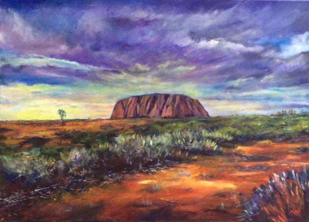 Uluru. Original art by Mark Pender