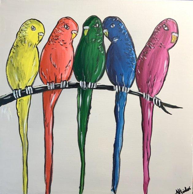 Rainbow Birds 2. Original art by Aisha Haider