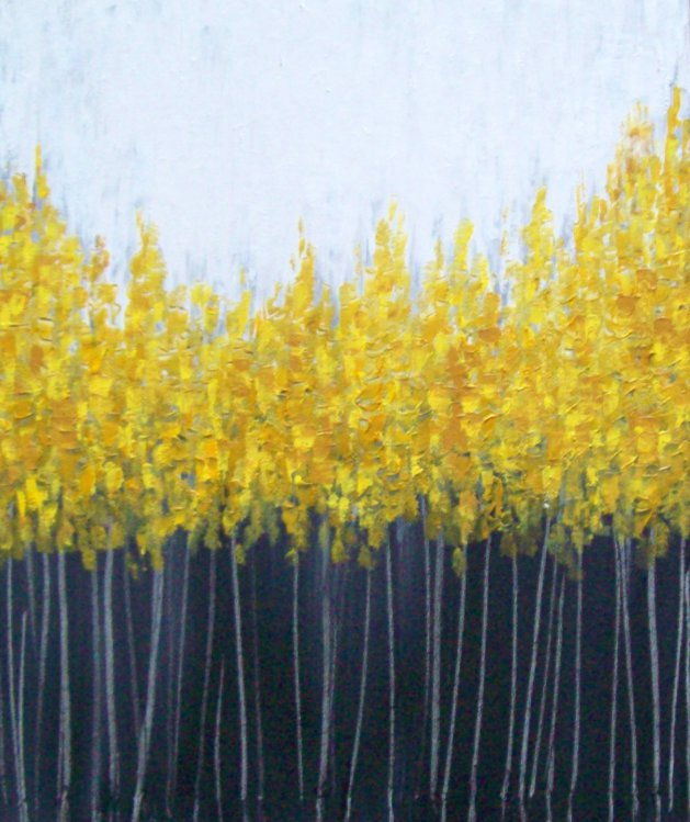 Golden Trees. Original art by Patricia Richards