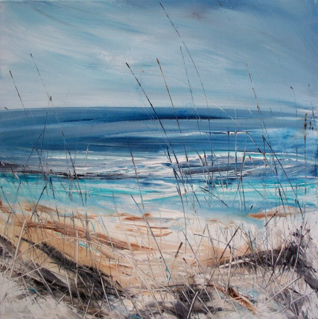 Semi Abstract Coastal / Landscape Art. Original Acrylic Painting.. Original art by Rachel Keenan