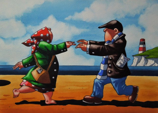 """"""" Dancing in the Wind """". Original art by Paul Kiernan"""