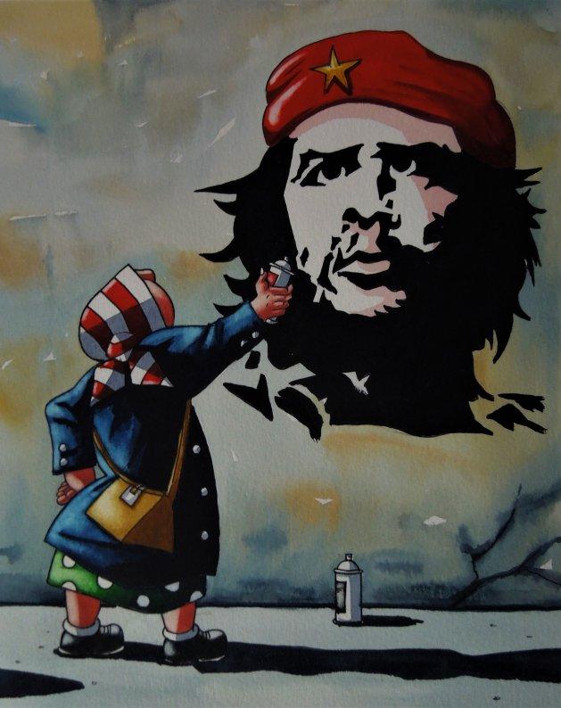 """"""" Graffiti Mom """". Original art by Paul Kiernan"""