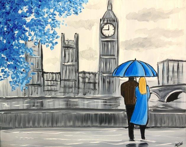 Blue Memories. Original art by Aisha Haider