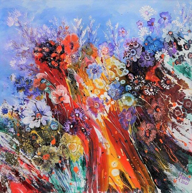 Wild Flowers. Original art by Mariana Oros