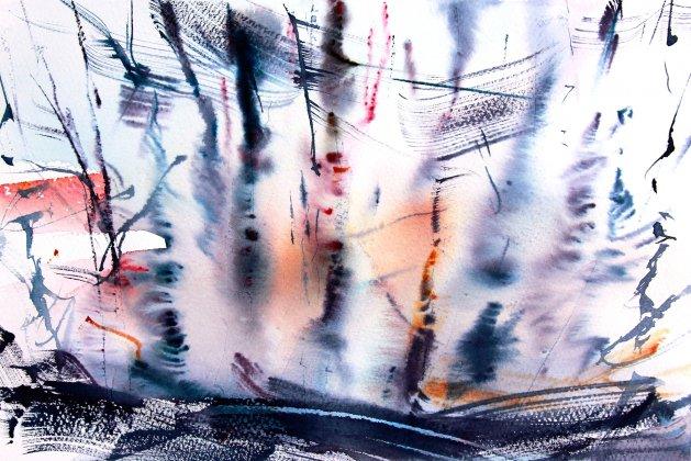 Moving Trees #2. Original art by Adrian Homersham